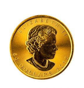 View the Gold Canadian Maple Leaf coin