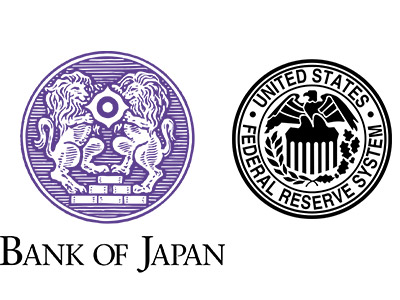 Bank of Japan and Federal Reserve Logos
