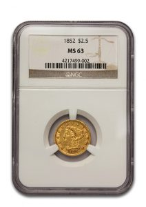 $2.50 Gold Liberty Coin