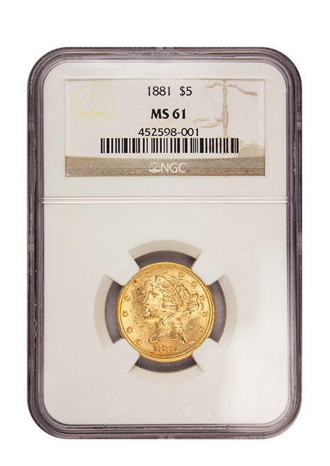 $5 Gold Liberty Coin