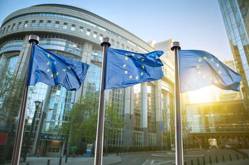 The EU flags