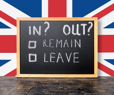 Is Britain in or out of the EU?