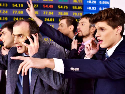 stockbrokers selloff