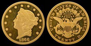gold liberty 1866