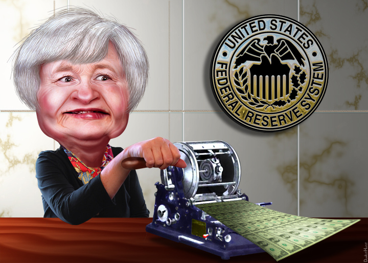 yellen printing money