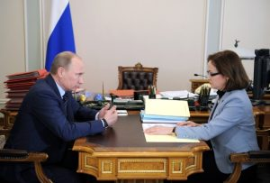 Russian President Vladimir Putin Meets Head of Russian Central Bank Elvira Nabiullina