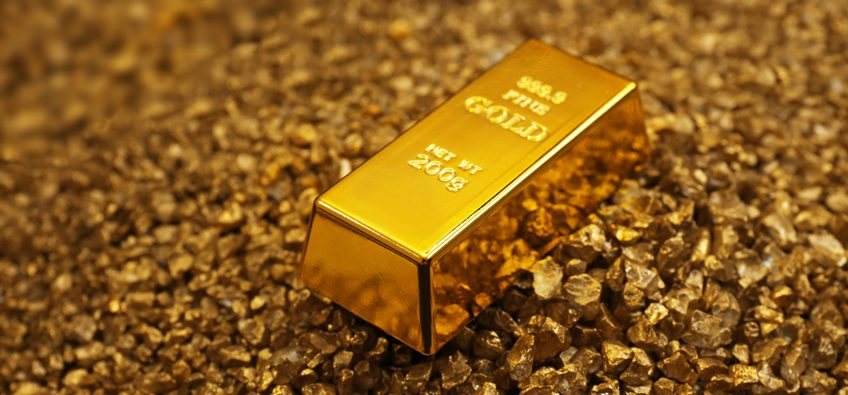 gold bar on grains