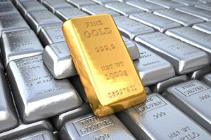 gold and sliver bars