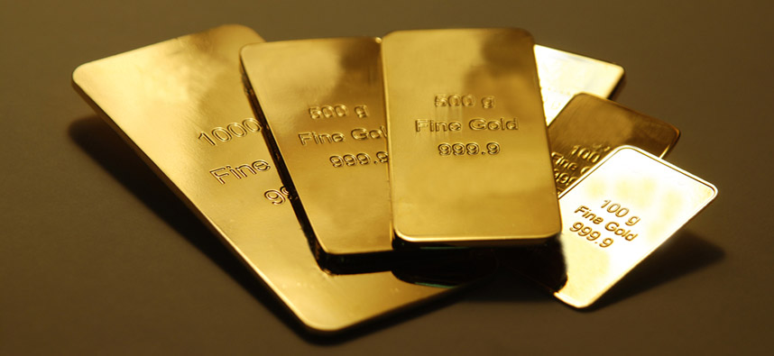 gold bars 50 day moving average