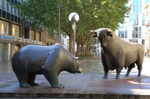 bear looming over bull