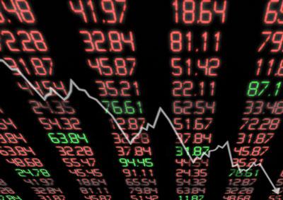 DJIA falls