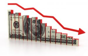 inflation pushing down what the dollar buys