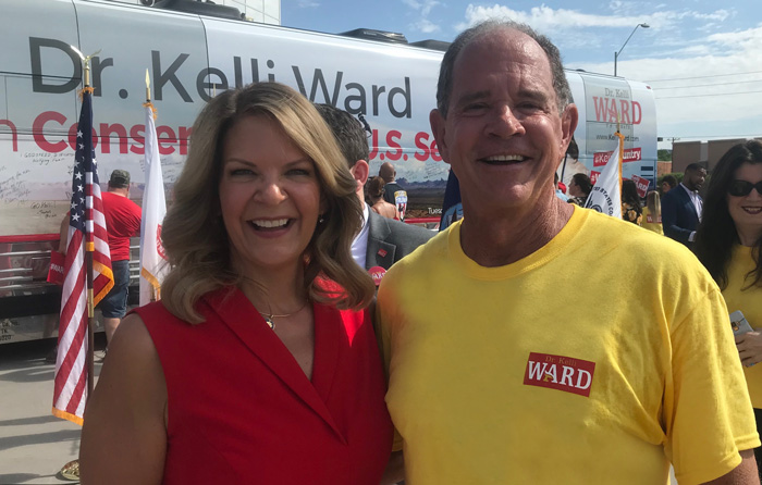 Dr. Kelli Ward and Jim Clark