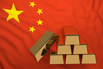 China gold bars